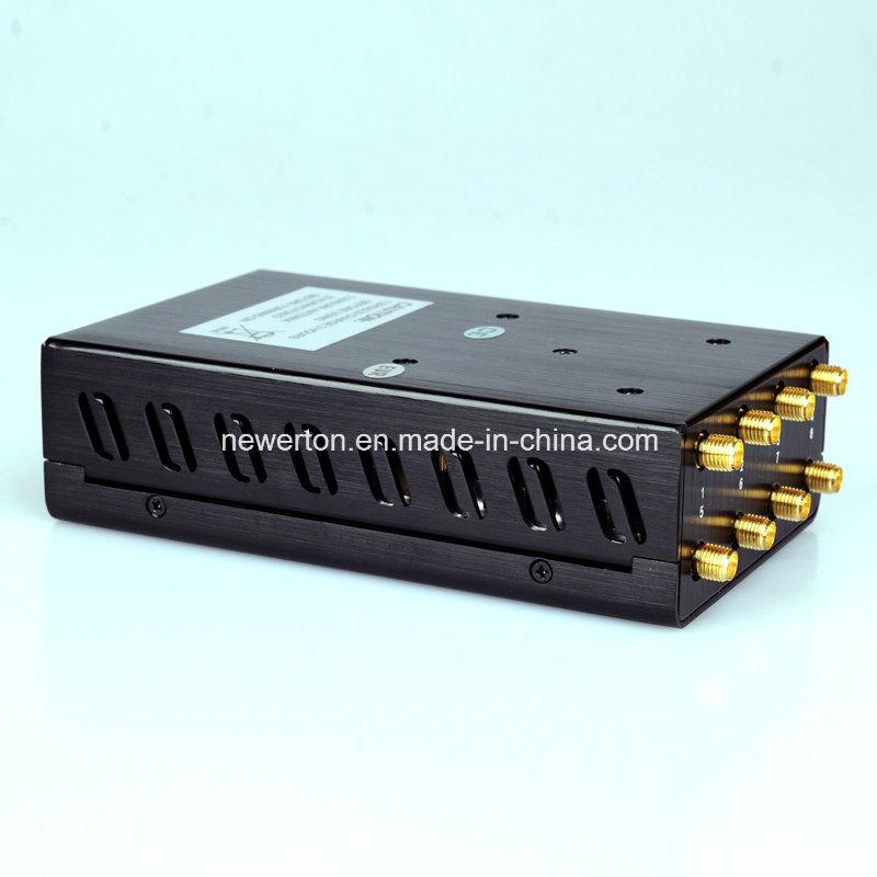 8 Antennas Portable GPS WiFi 3G 4G Mobile Phone Signal Jammer Blocker Lojack Jammer