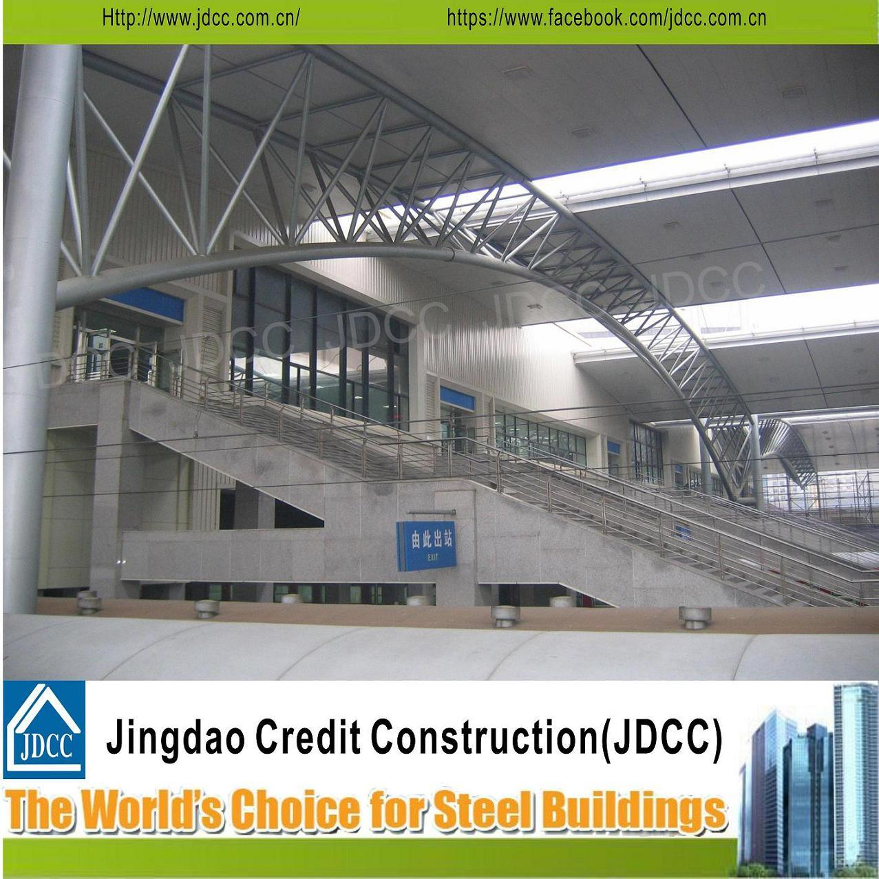 Manufacturing and Construction for Railway Station Steel Structure