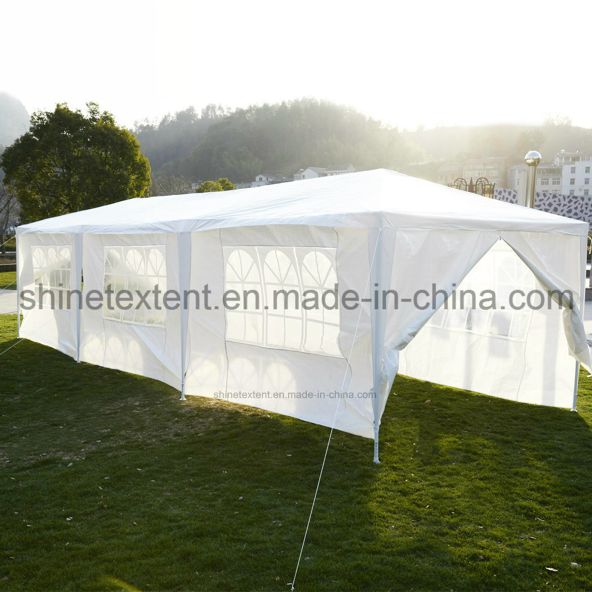 White 10X10 FT Easy Pop up Wedding Party Tent with Side Walls