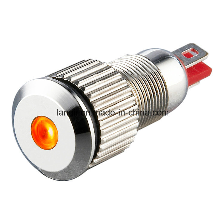 P8 8mm Nickel Plated Brass DOT Illumination Indicator (P8)