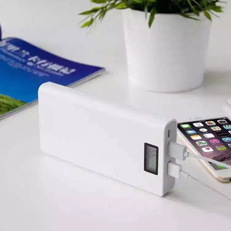 20000mAh Portable Battery Charger with LCD Display & Double Output for Smart Phone