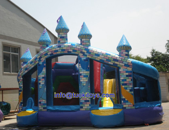 Outdoor Inflatable Water Slide with Obstacle Toy (B095)
