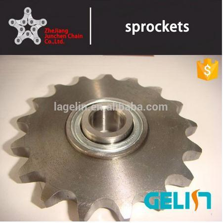 OEM Customized Hardened Teeth High Speed Roller Chain Ball Bearing Idler Sprocket
