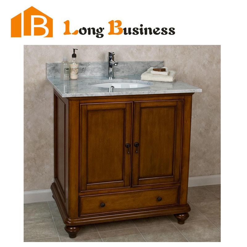 china solid wood bathroom vanity cabinet storage furniture