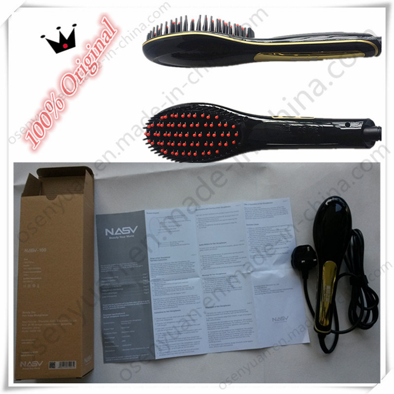 2016 New Travel Size Ceramic Electric Hair Straightener Comb