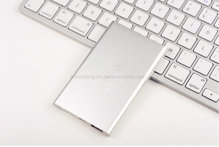 Ultra Slim Metal 4000mAh USB Charger Power Bank