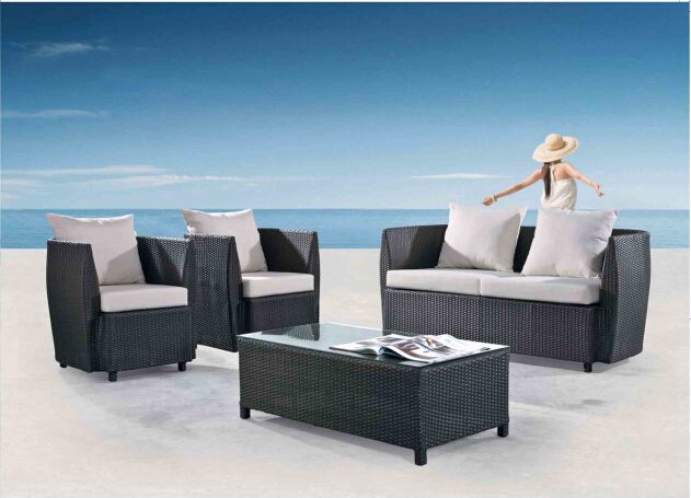 Outdoor Leisure Furniture Alu Rattan Sofa