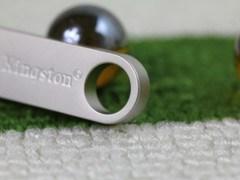 Metal Mini USB Flash Drive with Keychain Design