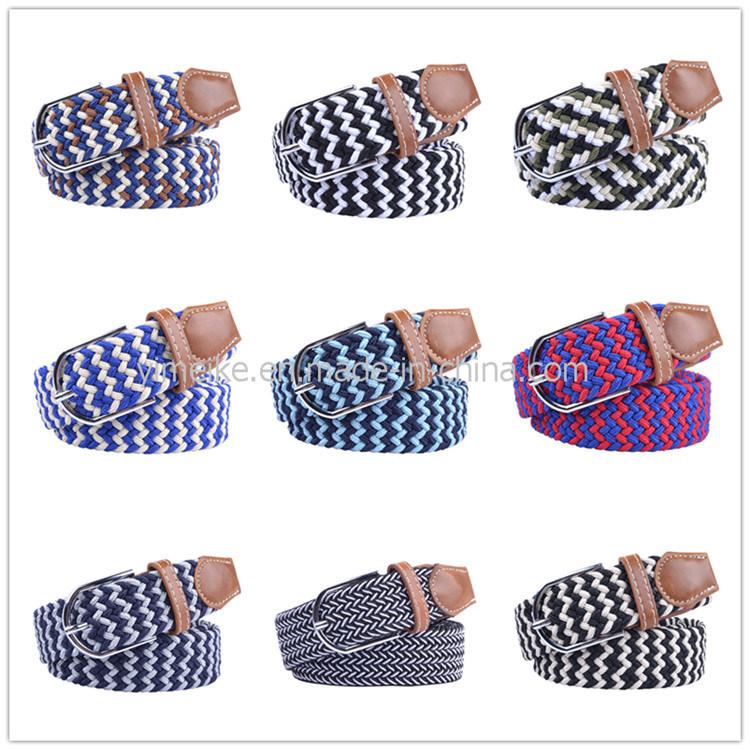 Unisex Fashion Sports Leisure Jeans Stretch Woven Elastic Polyester Webbing Belt