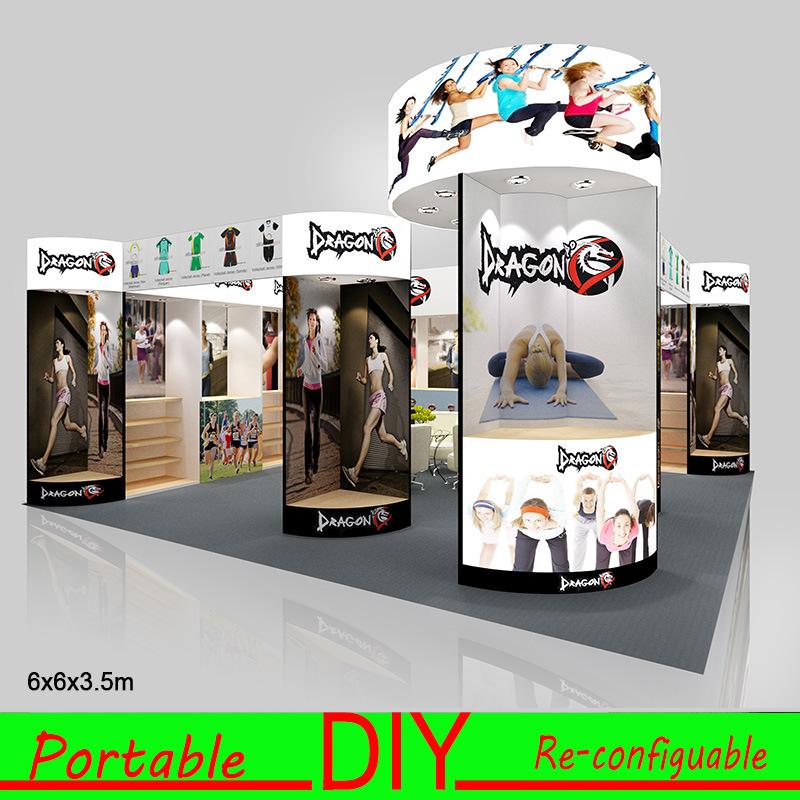 Design Clothing Custom Portable Modular Trade Show Exhibition Display Booth