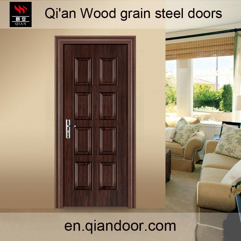 Wood Grain Galvanized Steel Door with Perlite Board