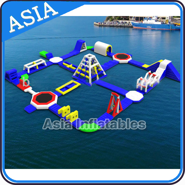 Inflatable Floating Water Park, Water Park Toys for Beach Sea Water