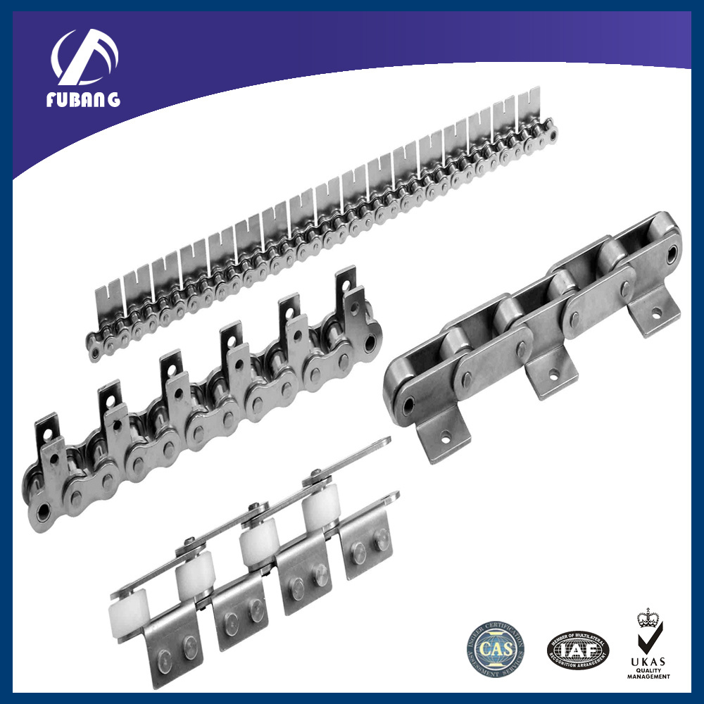 Short Pitch Conveyor Chain with Attachment (04CSS-A1, 06CSS-A1, 08ASS-K1, 085SS-K1)