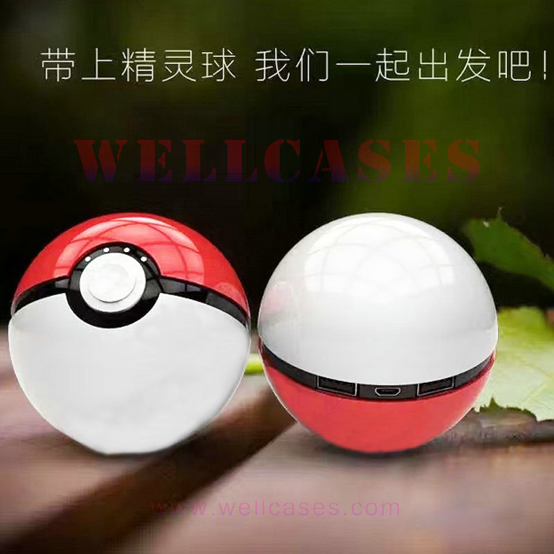 2ND Generation 12000mAh External Battery Pokemon Pokeball Power Bank with Flashlight