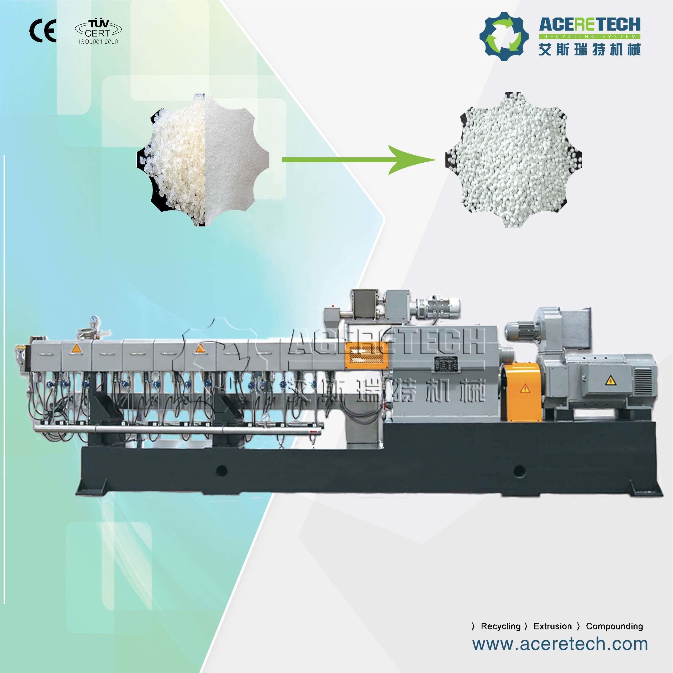 Twin Screw CaCO3 Filler Masterbatch Extruding Pelletizing Granulating Machine