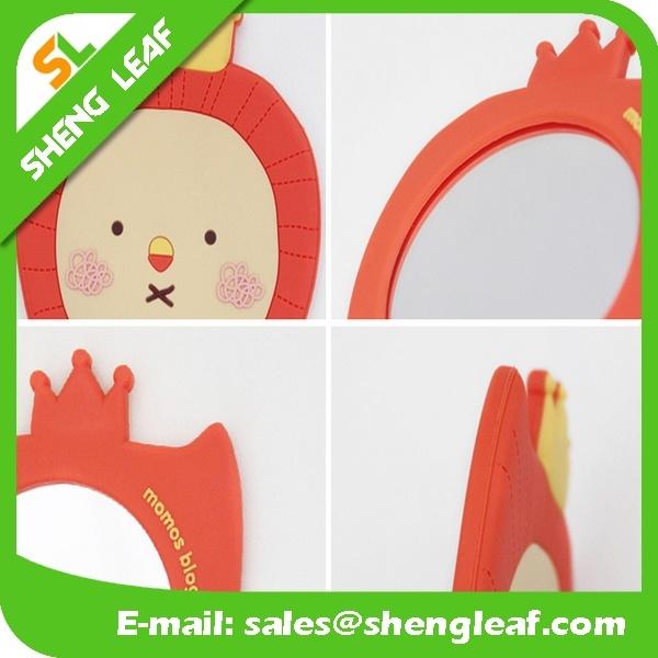 Cartoon Customized Design Rubber Makeup Mirror (SLF-RM008)