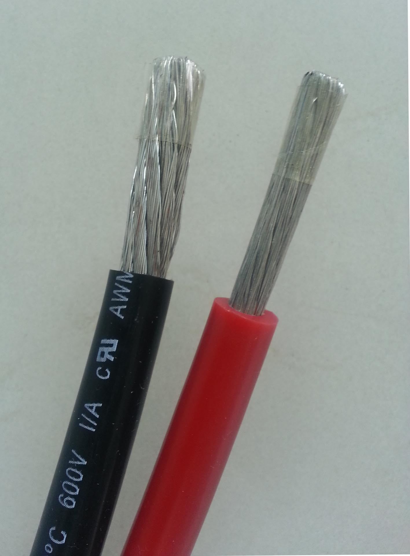 Braidless Silicone Rubber Cable Wire