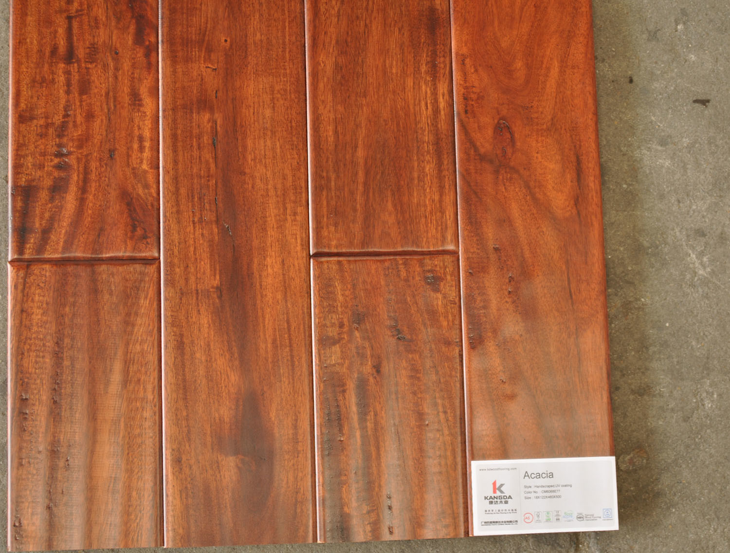 China acacia solid wood flooring cm6068e77 china solid for Real solid wood flooring