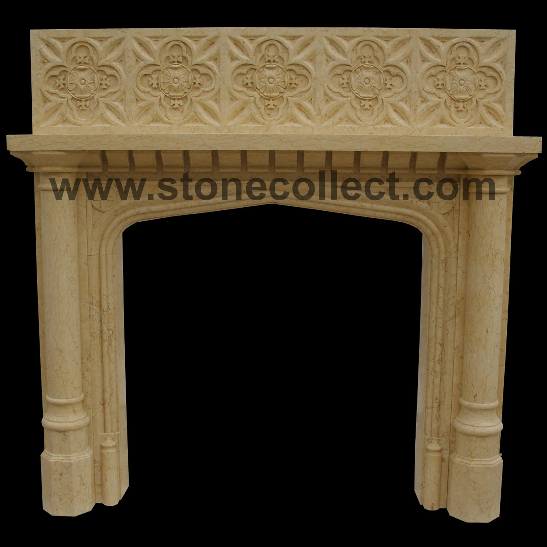 Beautiful European Style Marble Fireplace for Indoor