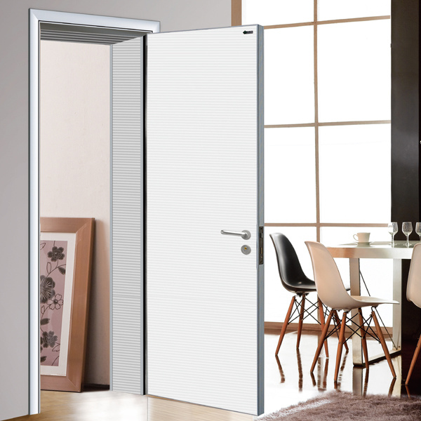 New Design Wooden Door for Bedroom, White Room Door, Internal Solid Wood Door