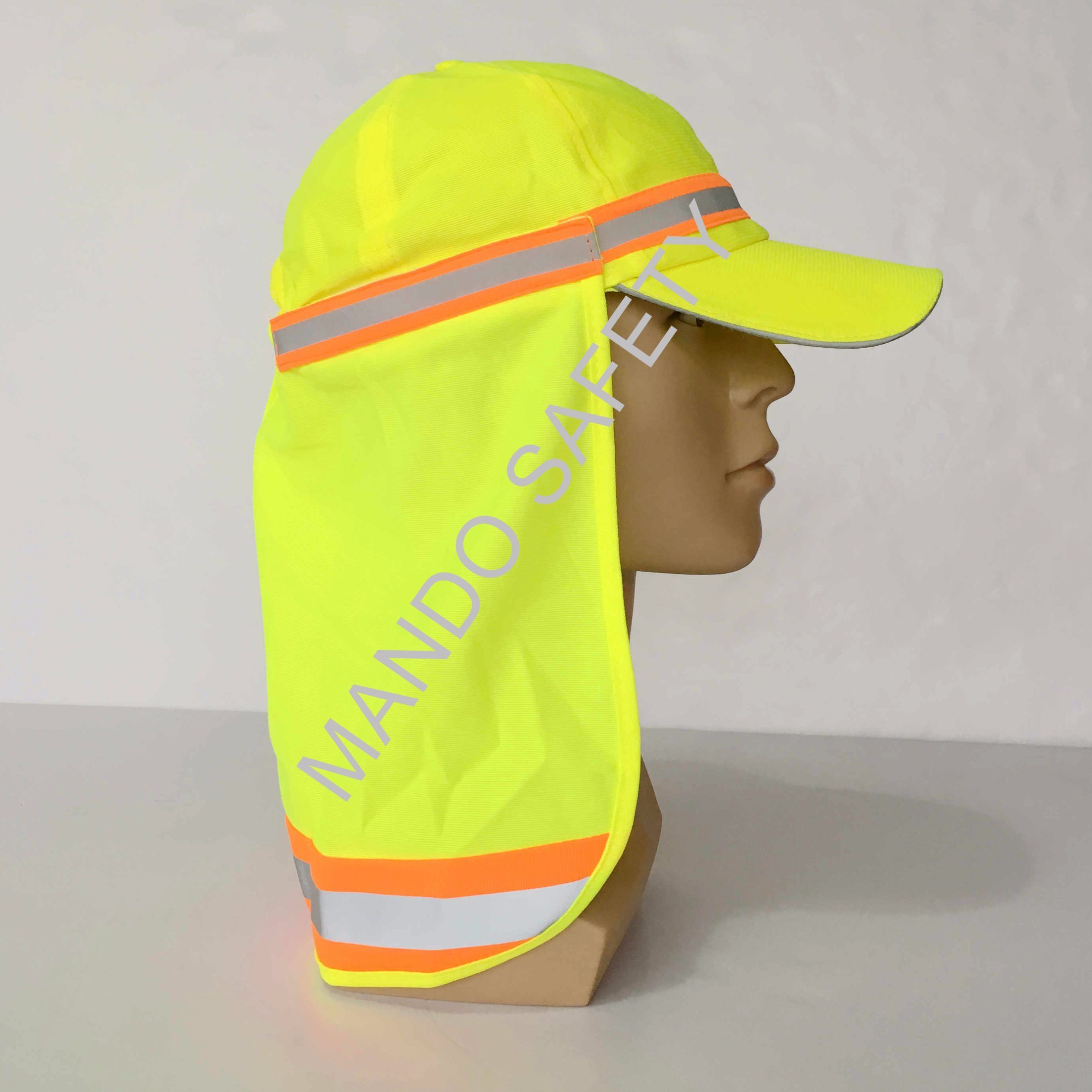 Polyester Taslon Helmet Cap with Reflective Tapes