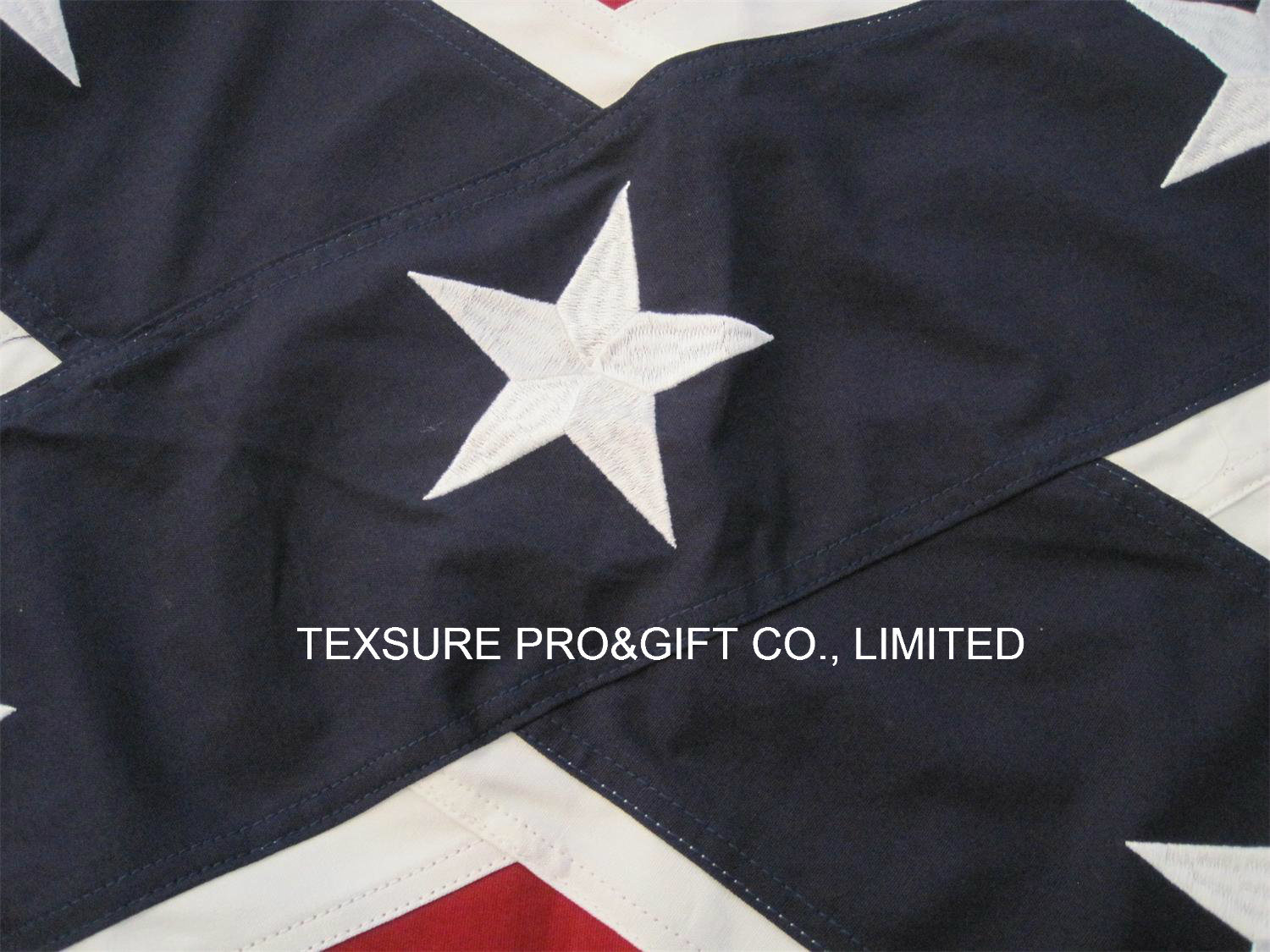 Embroidery Custom National State Cotton Flag (0013)
