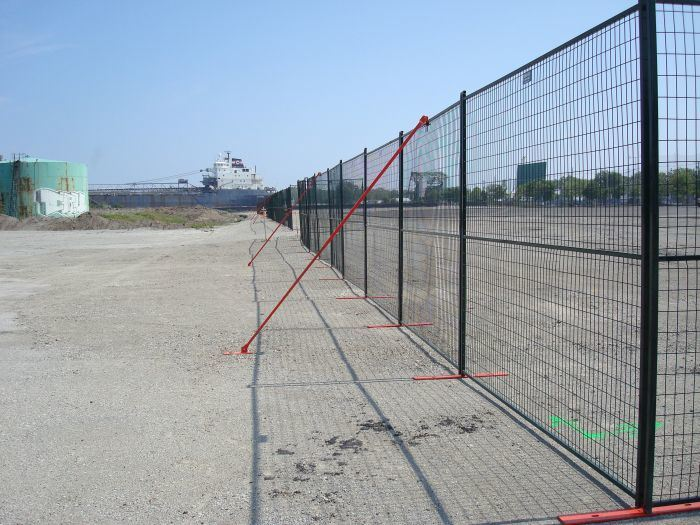 6ftx10FT Fenc for Event Ral 2009 Orange Coated Portable Security Canada Temporary Fence