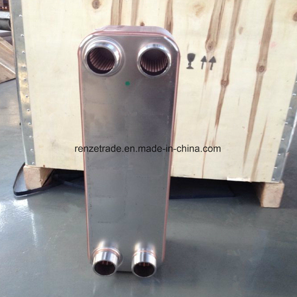 Refrigerant R22, R404A, R410A Condenser Central Heating Copper Brazed Plate Heat Exchanger