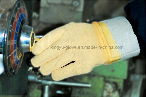 Jersey Liner Latex Fully Coated Knit Wrist Work Glove (L1715)