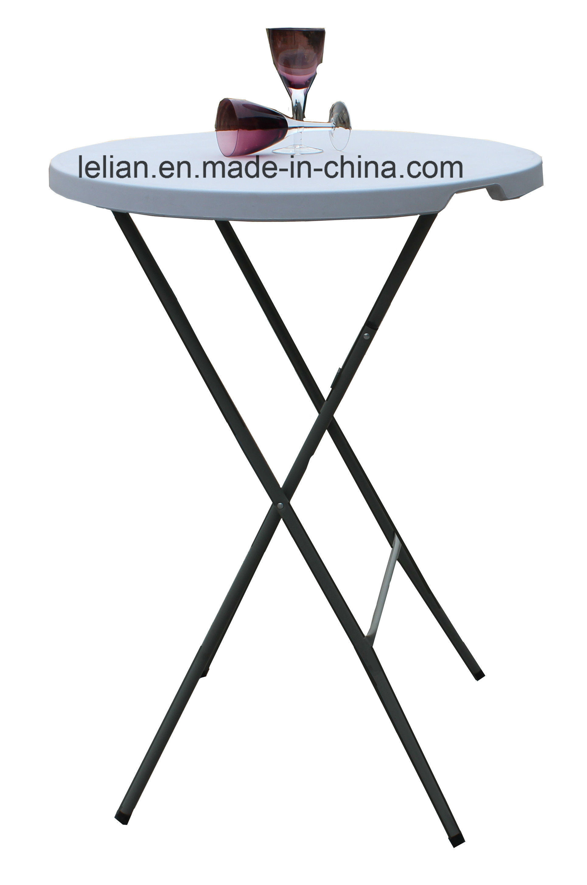 Outdoor Events Steel Frame Durable High Density HDPE Plastic Folding Table (LL-CFT007)