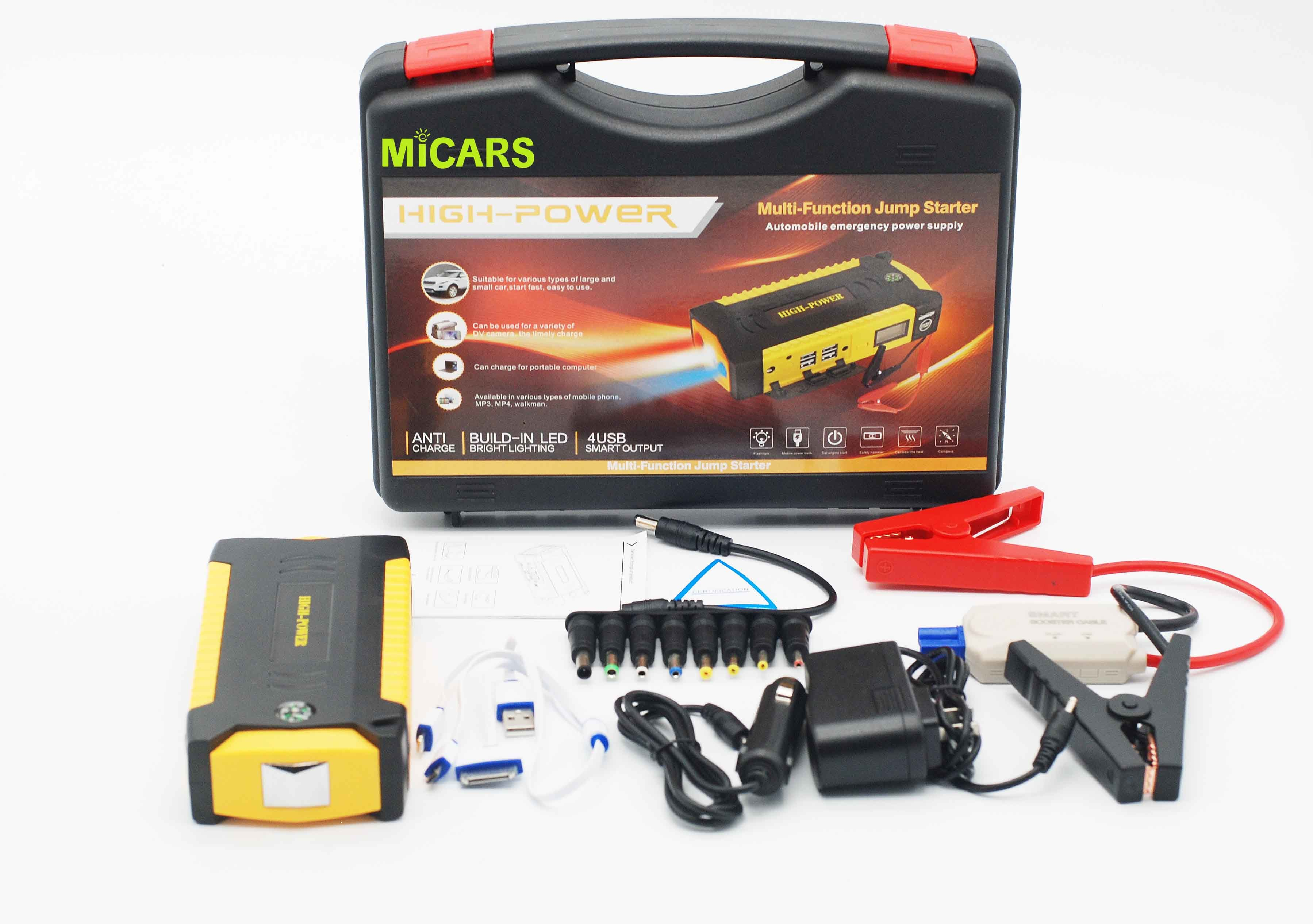 Super New Upgrade Safety Hammer High Power Car Jump Starter