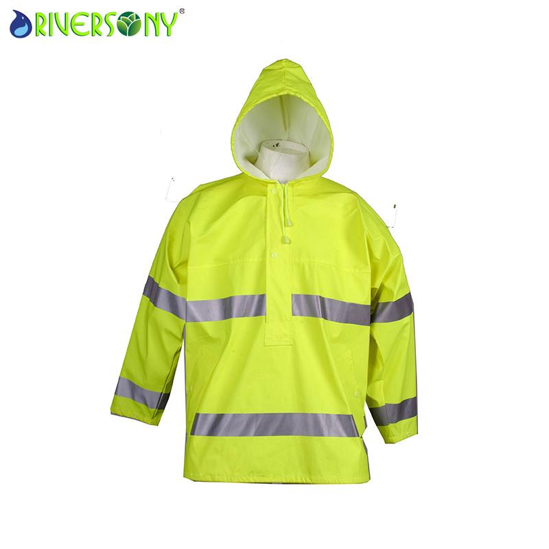 En471 Class 2 PU Rain Jacket