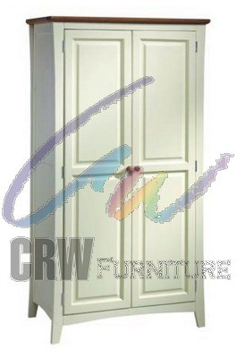 White Body Oak Modern Top Home Furniture Wardrobe (Bali-08)