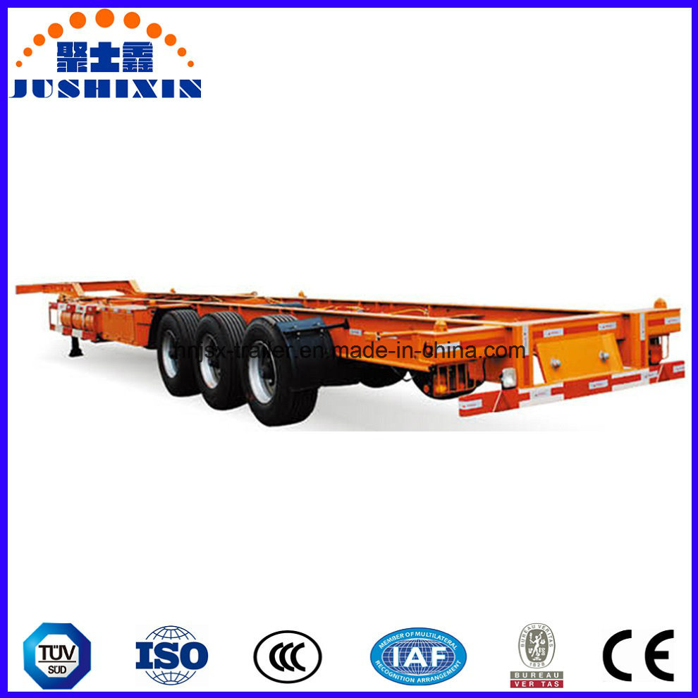 Factory Price Tri-Axle 60 Ton 40FT Skeleton Container Semi-Trailer