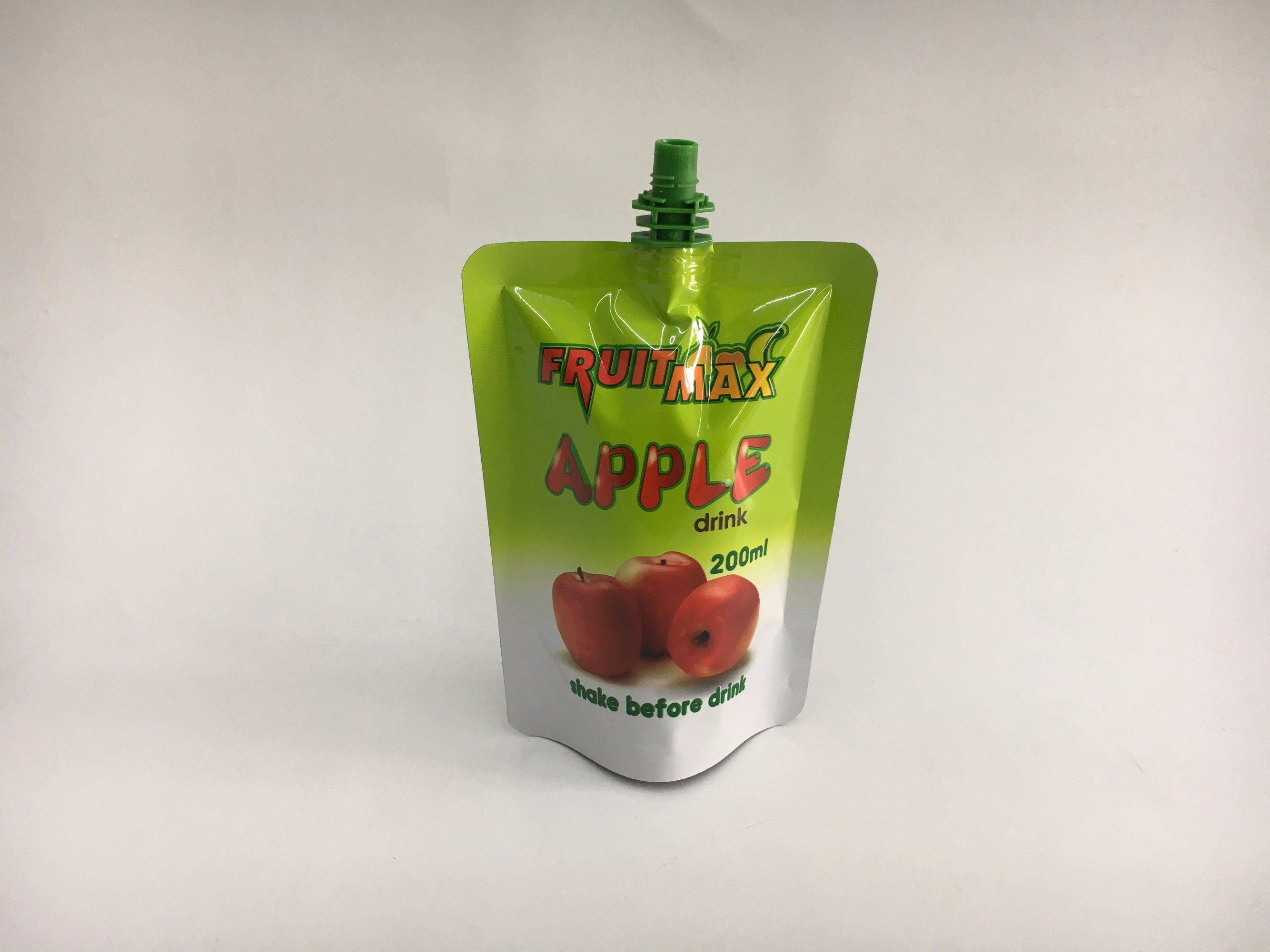 Apple/Orange Juice Stand up Spout Pouch