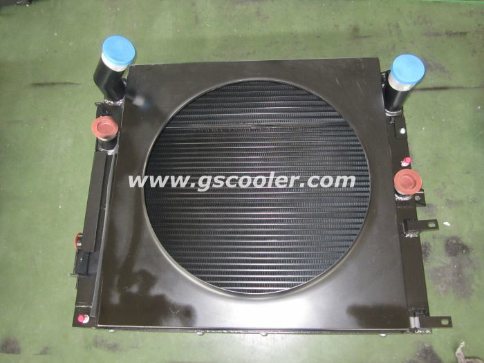 Aluminum Cooler with Fan Package for Baumag Loader