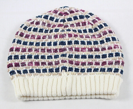 Fashion Hand Made Crochet Checked Style Knitted Knitting Hat