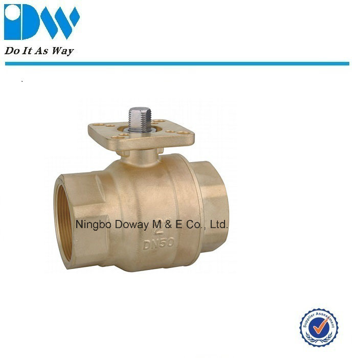 Brass Ball Valve with Mounting Pad ISO5211