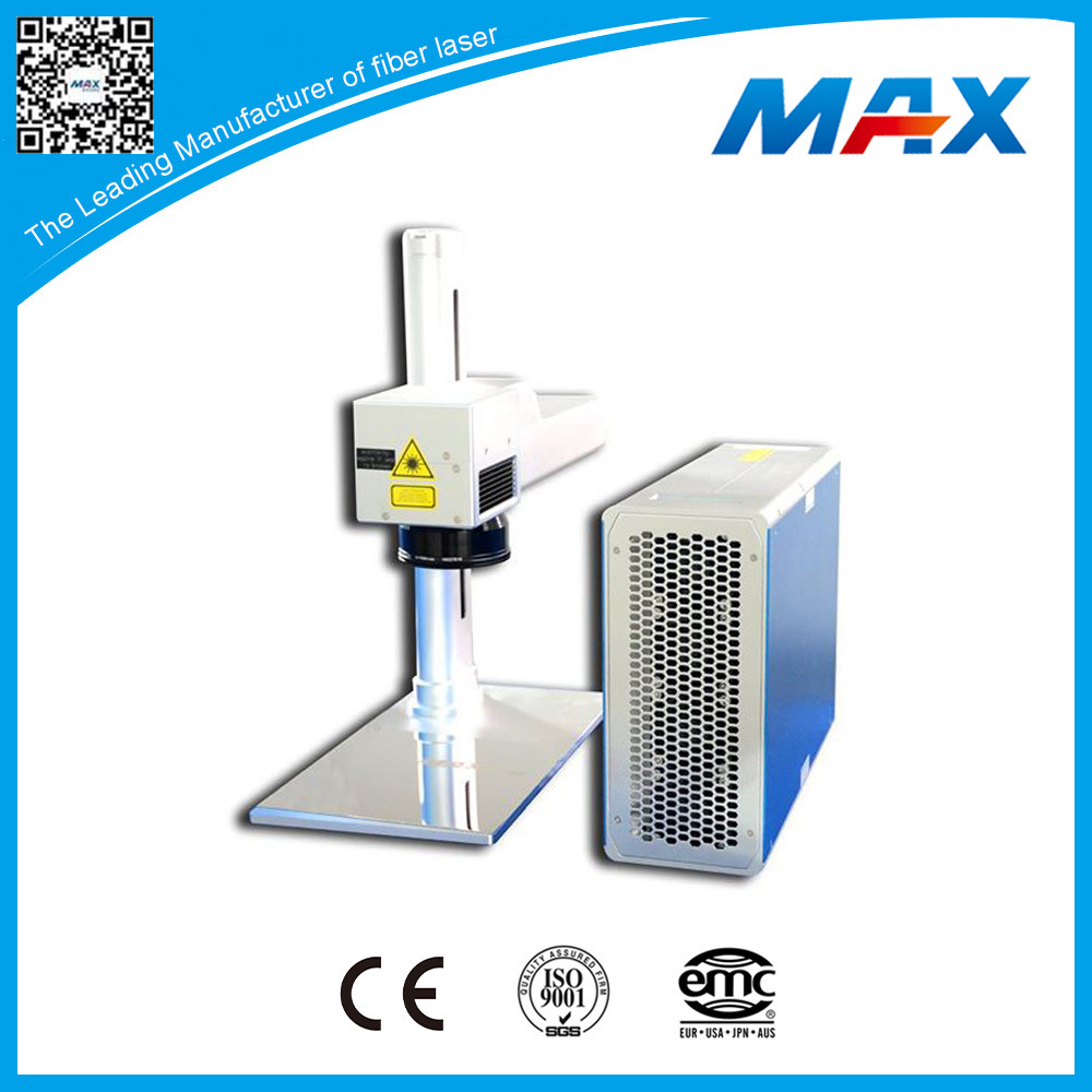 High Speed 10W Plastic Metal Fiber Laser Engraver Equipment
