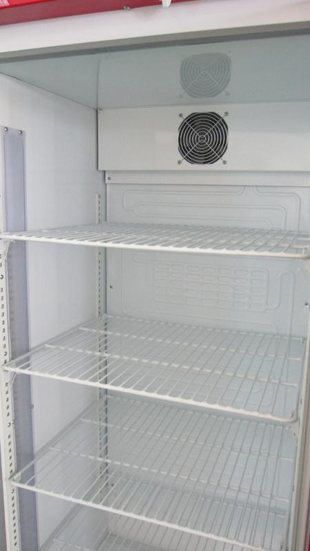 Vertical Fan Cooling Optional One Glass Door Refrigerating Showcase (DBQ-318L)