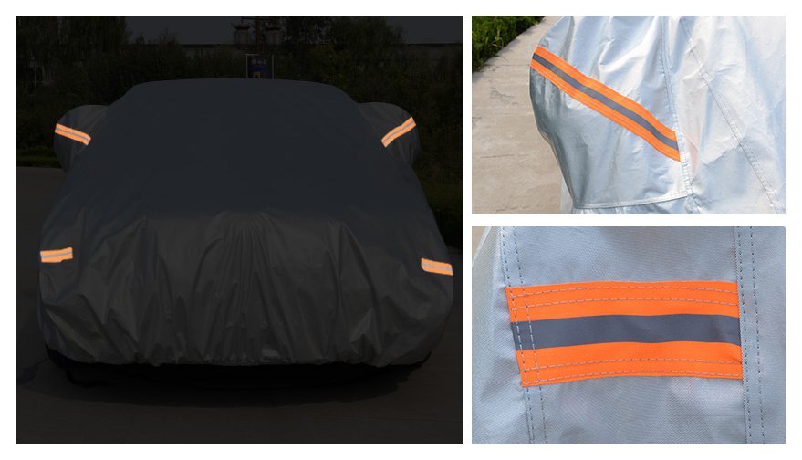 High Quanlity Folding Silver PEVA Theftproof Waterproof Car Cover for Das Auto