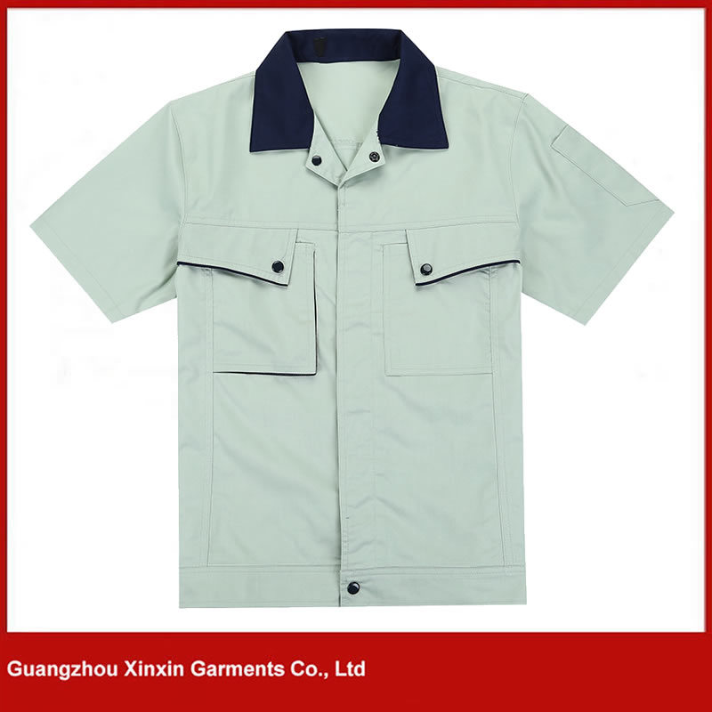 Cheap Cotton Polyester Tc Working Wear Garments Shirts Supplier in Guangzhou Factory (W158)