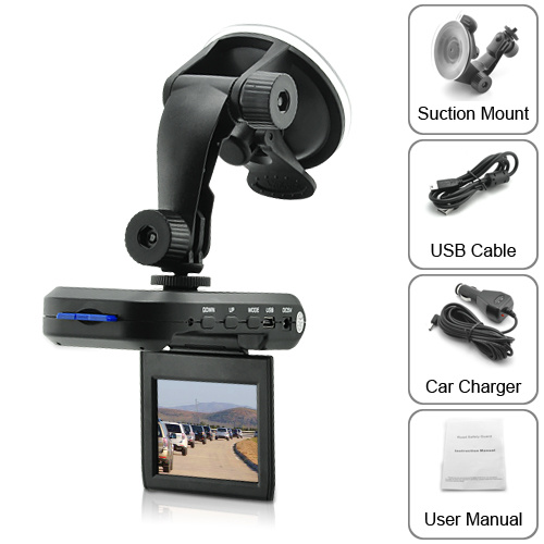 Car DVR with 2.5 Inch TFT LCD Screen + SD Card Slot