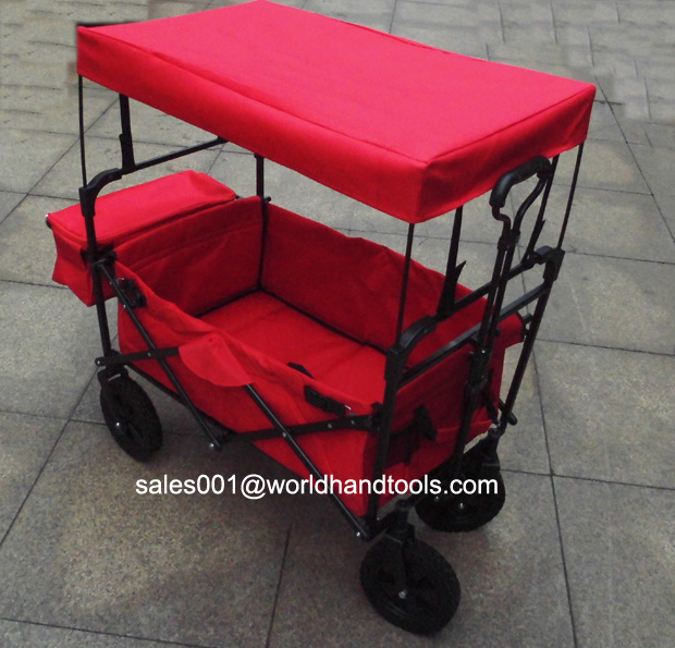 Folding Utility Wagon with Canopy for Kids