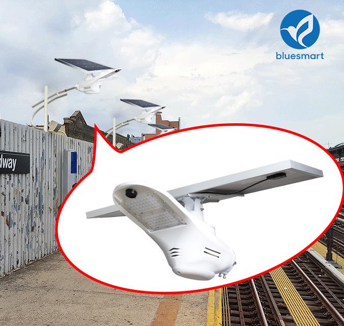 Bluesmart Solar LED Garden Street Light Outdoor Lamp Motion Sensor Lighting