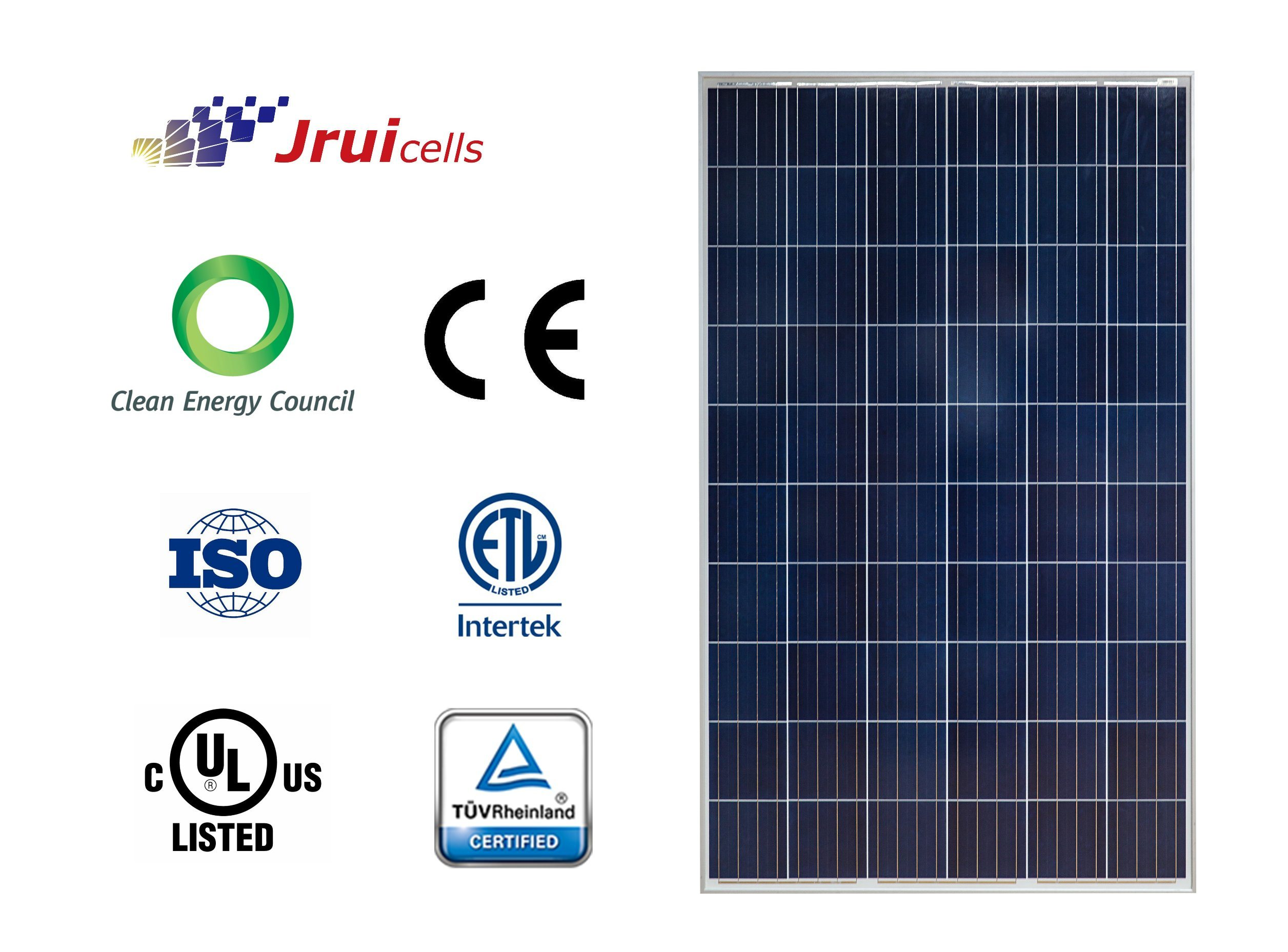 Salt Mist Resistant 270W Polycrystalline Silicon Solar Panel