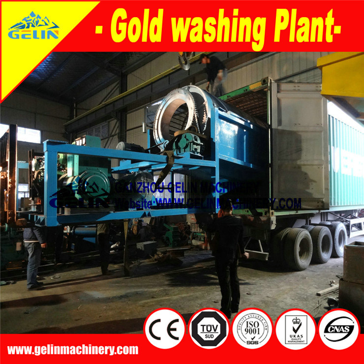 Mobile Gold Trommel Screen Washing Plant