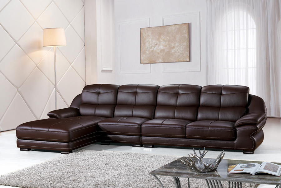 China Wood Luxury Sofa Furniture Leather Living Room