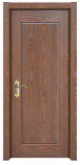 Simple Plain Design Classical Solid Wooden Door