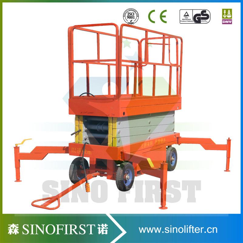 6m-12m Mobile Semi Electric Mobile Platform Scissor Lift